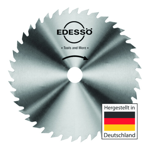 EDESSÖ Vollstahl VS Bau-Kreissägeblatt CV / Zahnform A - KV mittlere Stärke, VS/CV 400x2,2x30 Z=56 KV-A