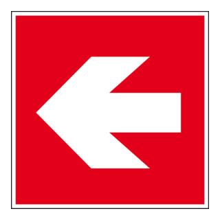 Eichner Brandschutzschild Richtungsangabe links PVC