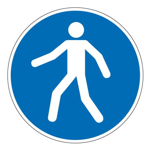 Eichner Gebotsschild Fußgängerweg benutzen blau