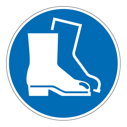 Eichner Gebotsschild Fußschutz benutzen blau
