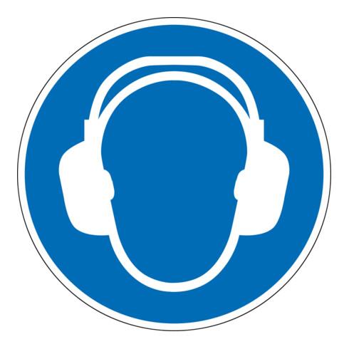 Eichner Gebotsschild Gehörschutz benutzen blau