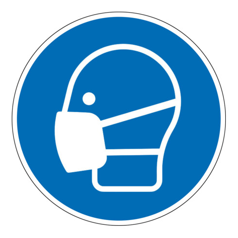 Eichner Gebotsschild Maske benutzen blau