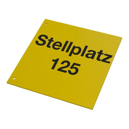 Eichner Regalschild Standard quer gelb