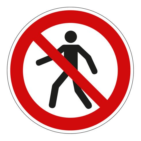 Eichner Verbotsschild Für Fußgänger verboten PVC rot