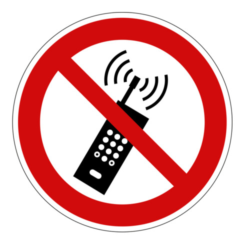 Eichner Verbotsschild Mobilfunk verboten rot