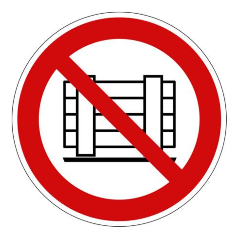 Eichner Verbotsschild Nichts abstellen oder lagern PVC rot