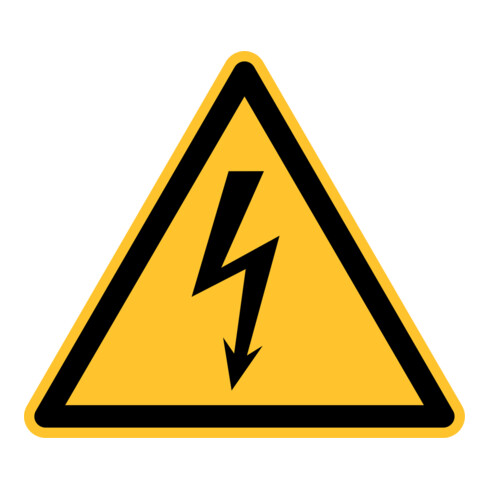Eichner Warnschild Elektr. Spannung PVC gelb