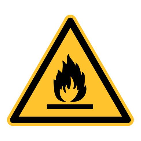 Eichner Warnschild Feuergefährliche Stoffe PVC gelb
