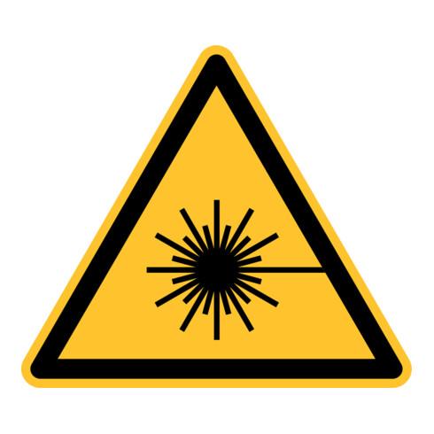 Eichner Warnschild Warnung vor Laserstrahl Alu gelb