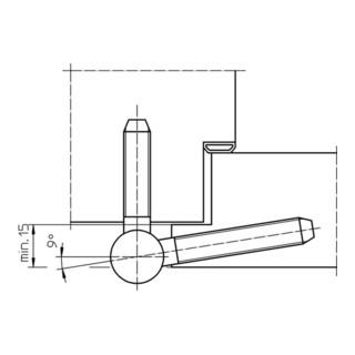 Einbohrband BAKA C 1-20 WF 3-tlg. topzink 100kg DIN L/R Holztüren