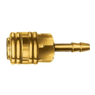 Einhandkupplung W.13mm a.Ms. m.Schlauchanschluss