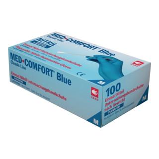 Einwegnitrilhandschuhe Blue-Comfort blau puderfrei 100 Stk./Box