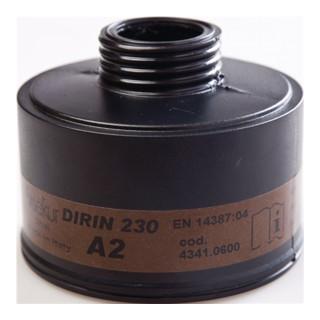 Ekastu Gasfilter Dirin 230 A2 f.Vollmaske gegen Dämpfe u.Gase DIN EN148-1