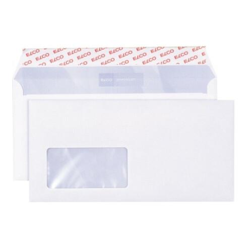 ELCO Briefumschlag premium 30778 C5/6 80g hk mF weiß 500 St./Pack.