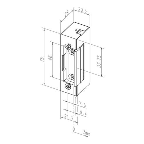 Elektro-Türöffner 17 EY 8-16 V AC/DC verstärkte Fallenfeder DIN L/R m.FaFix
