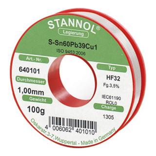 Elektroniklot D. 1 mm Nr.640101 100g Stannol