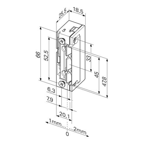 Elektrotüröffner 118EY13 ProFix 2 10-24 V AC/DC Stand.DIN L/R m.FaFix ASSA ABLOY