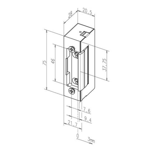 Elektrotüröffner 27 E 12 V DC 100%ED Stand.DIN L/R m.FaFix ASSA ABLOY