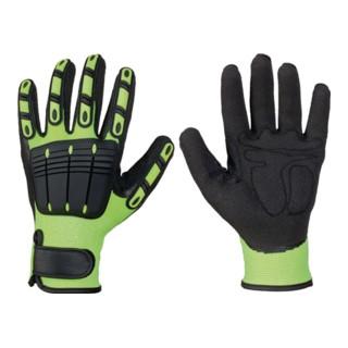 Elysee Handschuhe Resistant Vinyl leuchtend gelb/schwarz