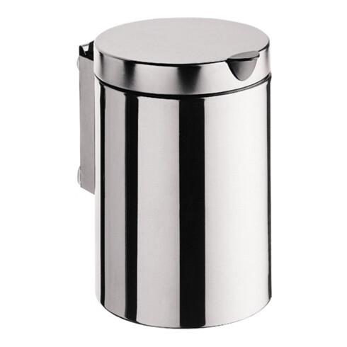 EMCO Abfallbehälter System 2 wandhängend, mit Deckel, 3 l Edelstahl