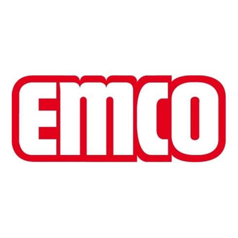 EMCO Toilettenbürstengarnitur POLO Behälter Kristallglas satiniert, Bürstengriff chrom chrom