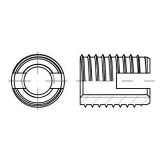 ENSAT-Gewindeeinsätze Stahl gehärtet M 10 gal ZnC, Typ 302 gal ZnC K
