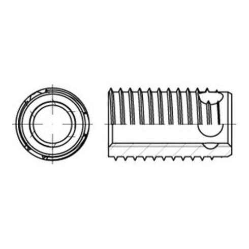 ENSAT-Gewindeeinsätze Stahl gehärtet M 4 gal ZnC, m. Bohrung, Typ 308 gal ZnC S