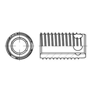 Ensat Stahl gehärtet M 6 gal ZnC, m. Bohrung, Typ 308 gal ZnC S