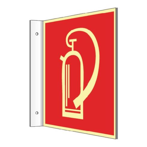 Enseigne drapeau L148xl148 mm blanko blanc p. transparents de présentation plast