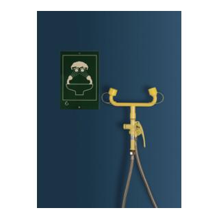 Erbstößer Augendusche AB003110 bewegliche Handdusche/Schlauchdusche 2-Strahlregler