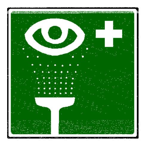 Erbstößer Photolumineszierendes Rettungszeichen Augenspüleinrichtung