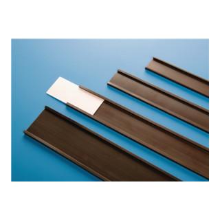 Etikettenhalter C-Profil magn.braun B.40mm Rollen-L.50m