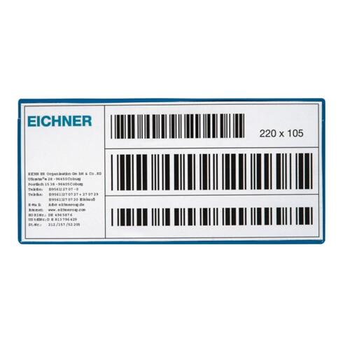 Etikettentasche B220xH105mm magn.10St./Pack EICHNER
