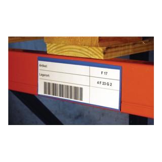 Etikettentaschen blau B.220xH.105mm 1/3 DIN magnetisch 50St./Karton