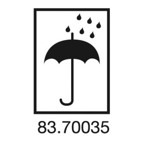 Étiquettes d'information symbole de parapluie L. 75 mm, l. 105 mm blanc 1000