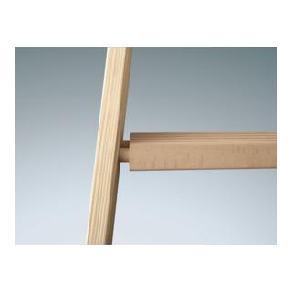 Euroline Holz-Sprossenstehleiter Nr. 10504  2 x 8 Comfort-Breitsprossen