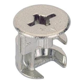 Exzenter-Verbinder Rastex 15 / 071950 für Fachboden 19mm Zinkdruckguss vernickelt