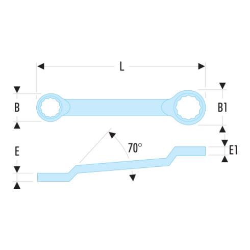 "Facom Doppelringschlüssel 55A 1/2x9/16"""