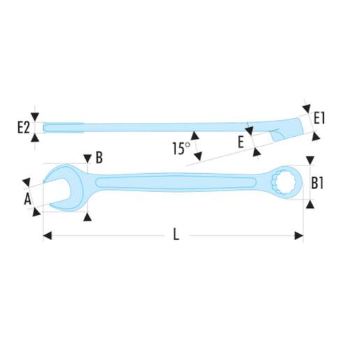 """Facom Ring-Maulschlüssel """"440"""" SLS 7/16"""""""
