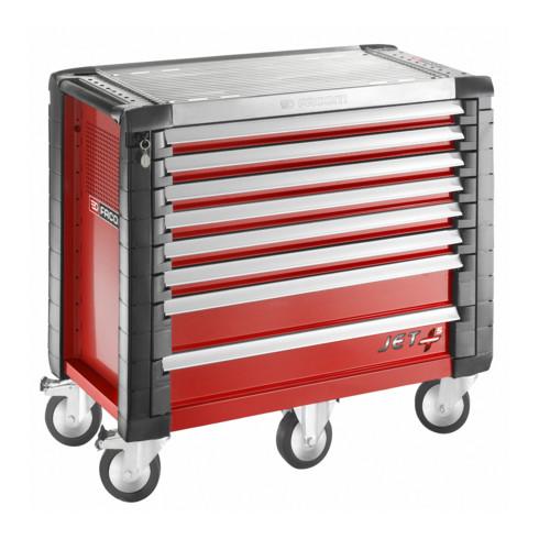 Facom Werkstattwagen JET+ 8 Schubfächer, 5 Module pro Schubfach rot (RAL 3020)