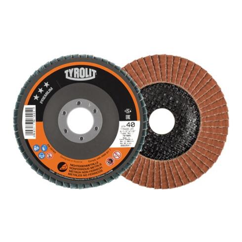Fächerscheibe Premium D.125mm K.60 kon.NE-Metalle Keramikkorn TYROLIT