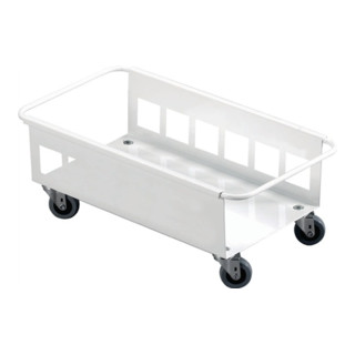Fahrgestell weiß für Wertstoffsammler 60l H180xB470xT260mm