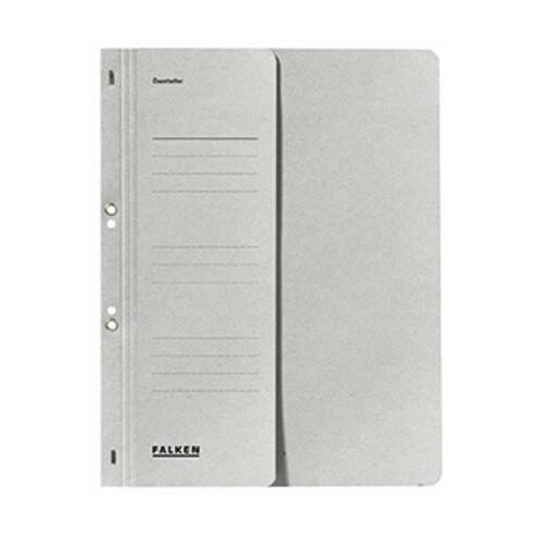 Falken Ösenhefter 80000508 DIN A4 kaufm. Heftung 250g Karton grau
