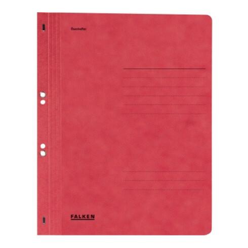 Falken Ösenhefter 80000557 DIN A4 ganzer Deckel Behördenheftung rot
