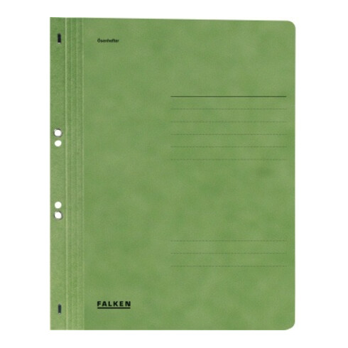 Falken Ösenhefter 80003890 DIN A4 ganzer Deckel Behördenheftung grün
