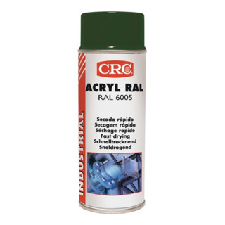 Farb-Schutzlack-Spray ACRYL RAL 6005 Moosgrün glänzend 400ml Spraydose CRC