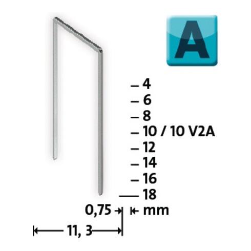 Feindrahtklammer 53 L12xB11,3mm superha Draht-B0,75mmrz KT NOVUS