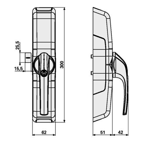 Fensterantrieb HomeTec Pro FCA3000S f.1-flüglige FT silber versch.-schl.ABUS