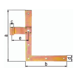 Fensterl.-Winkelb.L.250x200mm B.30mm S.3mm STA galv.gelb verz.L ger.GAH