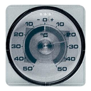 Fensterthermometer für die Außenscheibe mit Klebefläche Kunststoff D.75mm